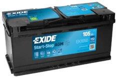 Akumulator EXIDE EFB 105Ah 950 P+